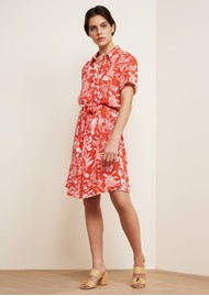 FABIENNE CHAPOT Boyfriend Printed Shirt Dress - Crazy Coral