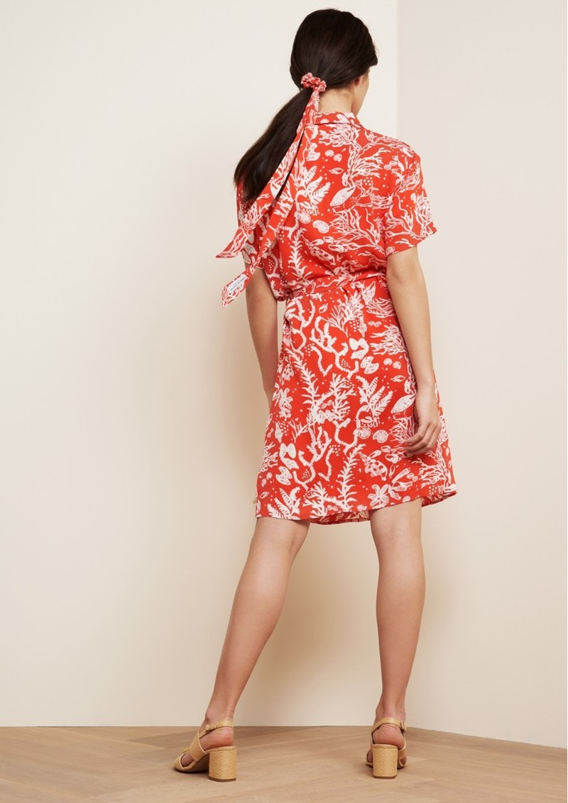 FABIENNE CHAPOT Boyfriend Printed Shirt Dress - Crazy Coral main image
