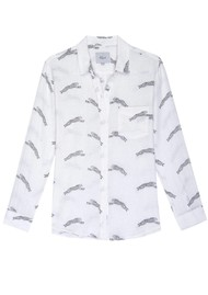 Rails Charli Linen Shirt - Cheetahs