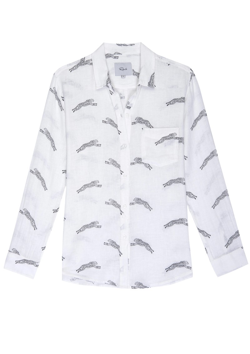 Rails Charli Linen Shirt - Cheetahs main image