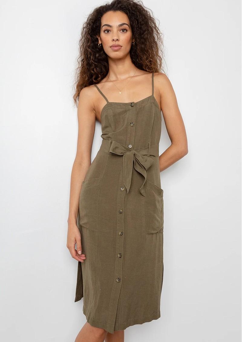 Rails Evie Dress - Deep Olive main image