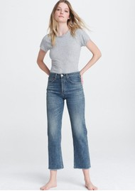 RAG & BONE Maya High Rise Cropped Ankle Straight Jeans - Derby