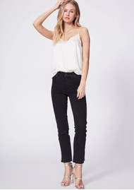 Paige Denim Cindy Straight Leg Raw Hem Jeans - Lights Out