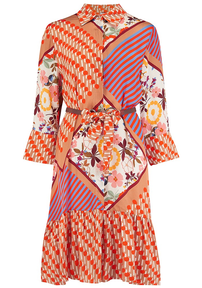 SFIZIO Rad Short Printed Dress - Multi main image