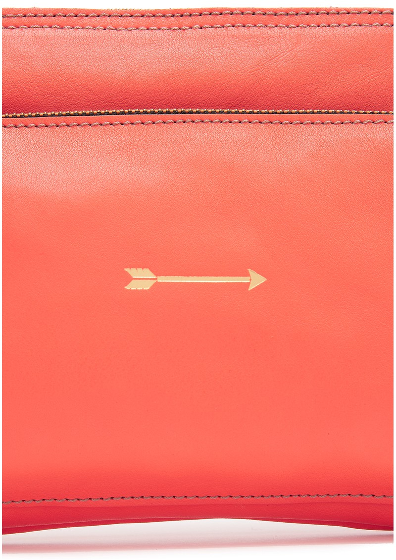 MERCULES Bugsy Leather Bag - Coral main image