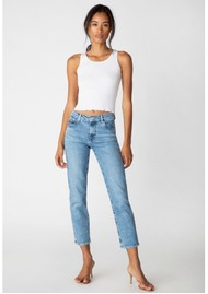J Brand Adele Mid Rise Straight Fit Jeans - Chadron