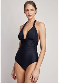 LENNY NIEMEYER Adjustable Halter One Piece Swimsuit - Black