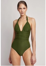 LENNY NIEMEYER Adjustable Halter One Piece Swimsuit - Grove