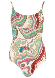 LENNY NIEMEYER Tank Maillot One Piece Swimsuit - Mineral