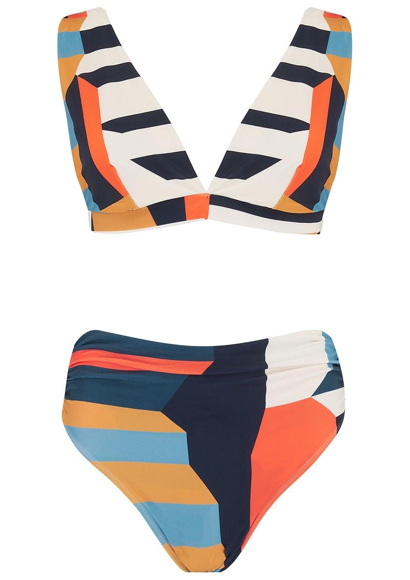 LENNY NIEMEYER Wide Strap Ruched Bikini - Mexico main image