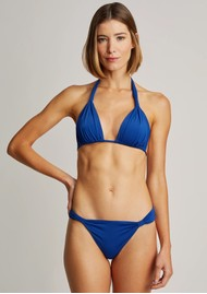 LENNY NIEMEYER Adjustable Padded Ruched Bikini - Royal Blue
