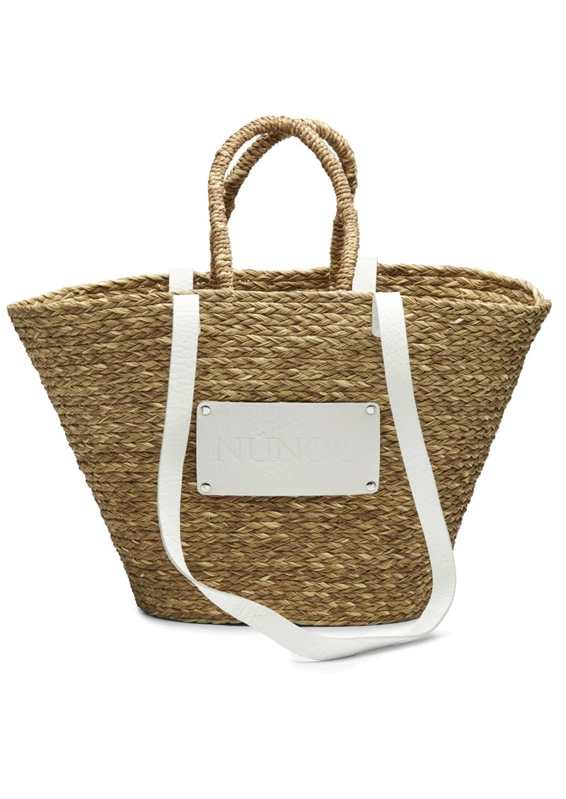 NUNOO Large Straw Beach Bag - White main image