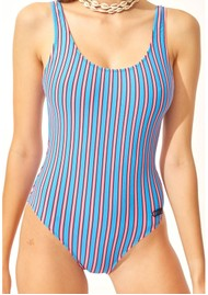 SOLID & STRIPED The Anne Marie One Piece Swimsuit - Tropical Stripe