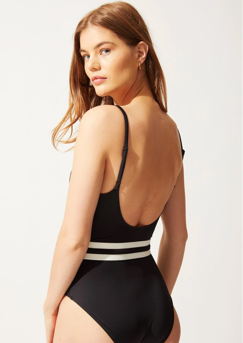 The Nina Belted One Piece Swimsuit - Black main image