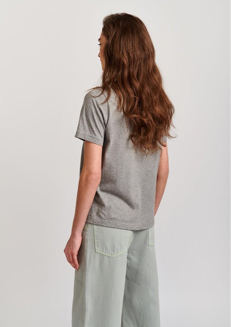 ESSENTIEL ANTWERP Vlogan T-shirt- Grey Shadow main image