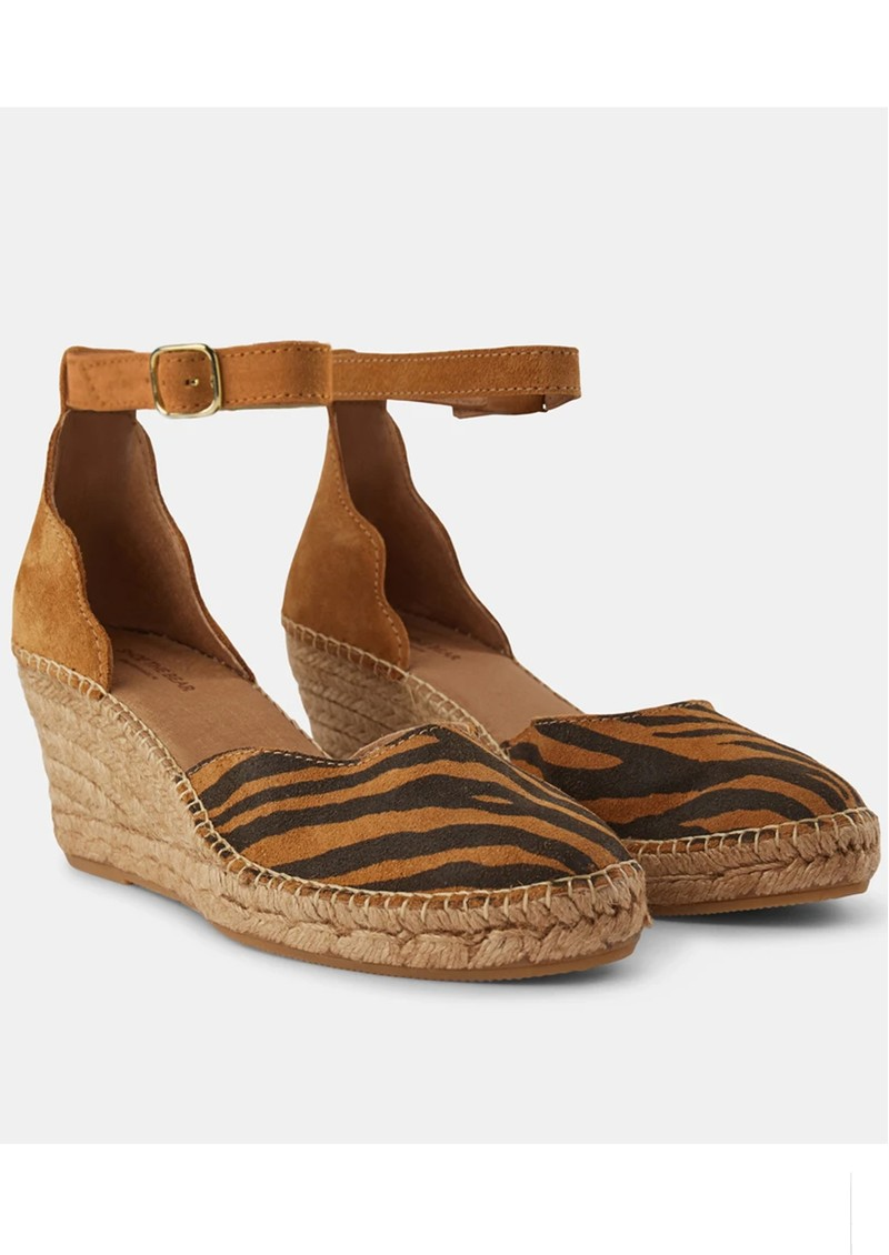 SHOE THE BEAR Salome Ankle Strap Wedge Espadrille - Mix main image
