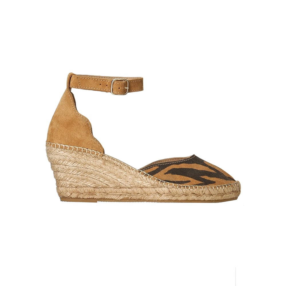 Salome Ankle Strap Wedge Espadrille - Mix