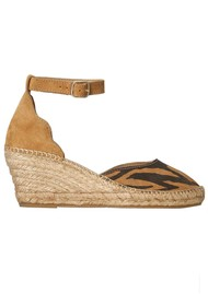 SHOE THE BEAR Salome Ankle Strap Wedge Espadrille - Mix