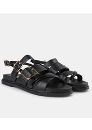 SHOE THE BEAR Joy Multi Strap Leather Sandal - Black