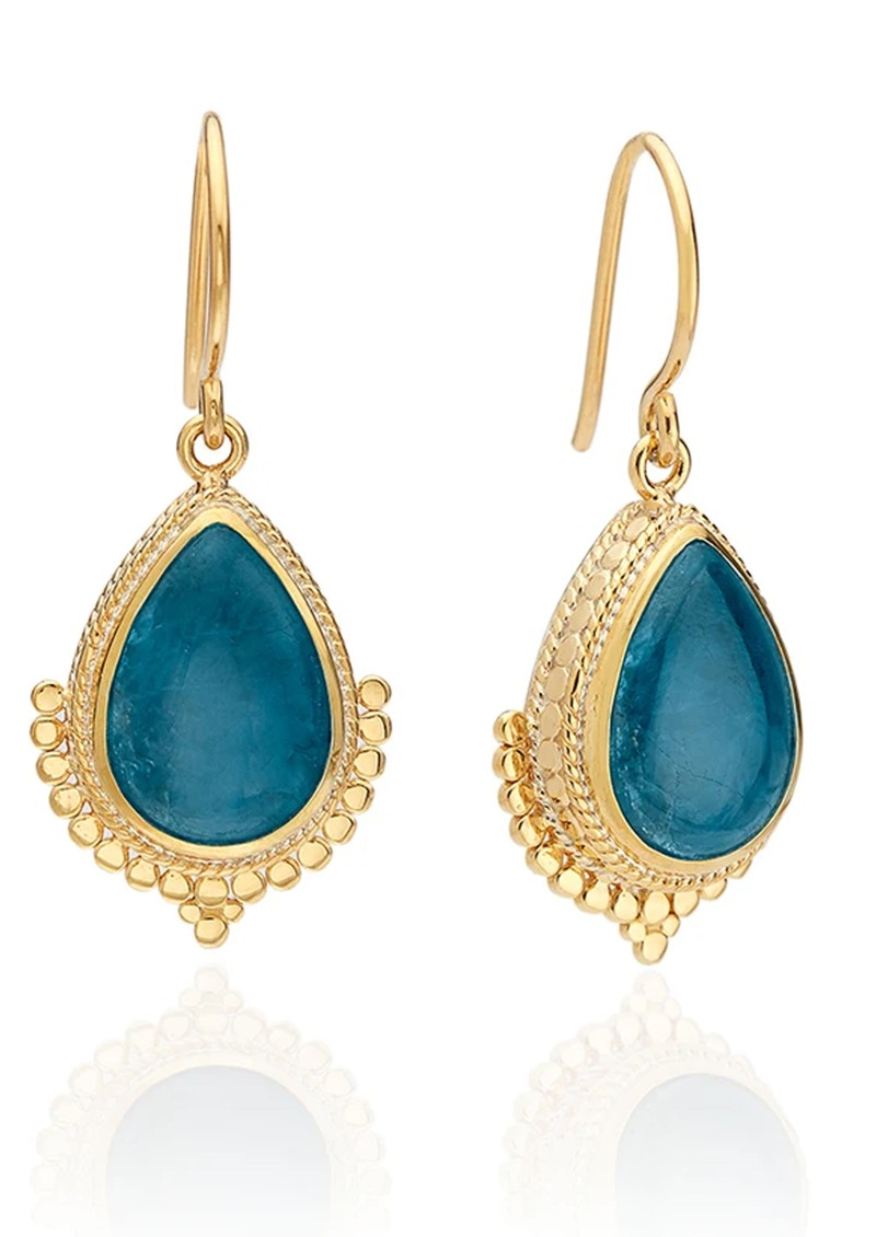 ANNA BECK Mosaic Apatite Teardrop Earrings - Gold main image