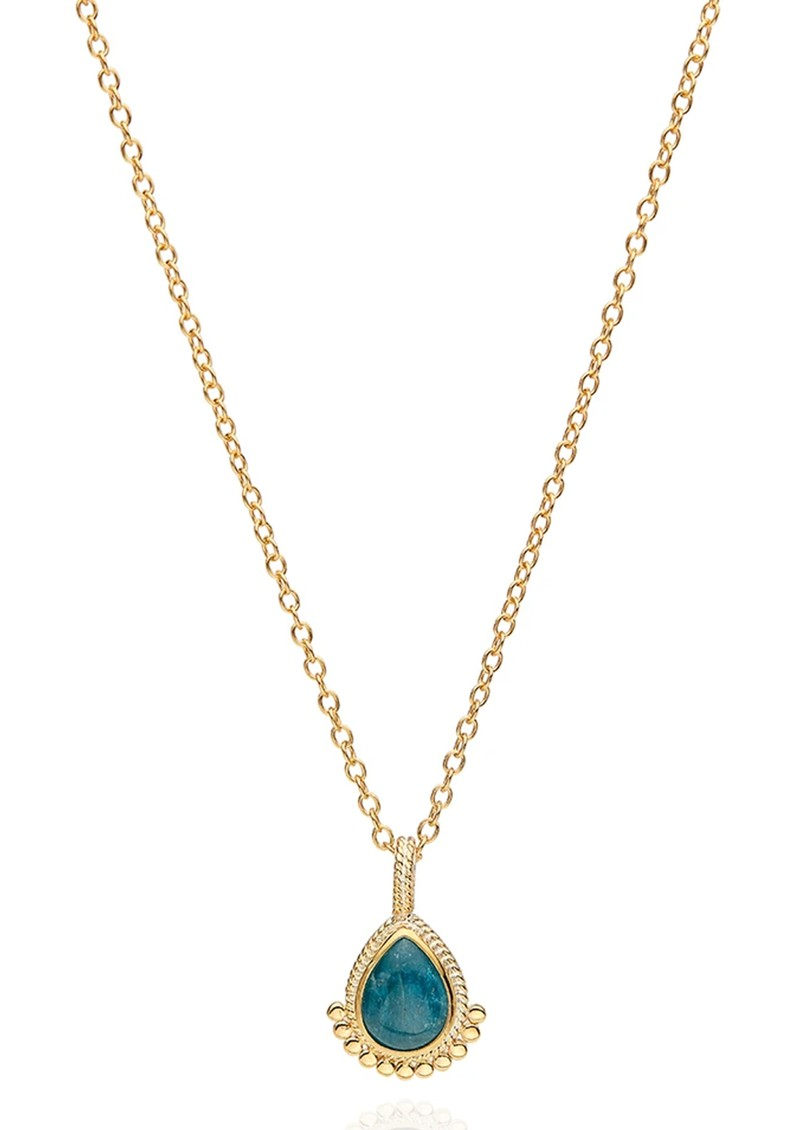 ANNA BECK Mosaic Apatite Teardrop Necklace - Gold main image