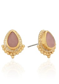 ANNA BECK Mosaic Guava Teardrop Stud Earrings - Gold