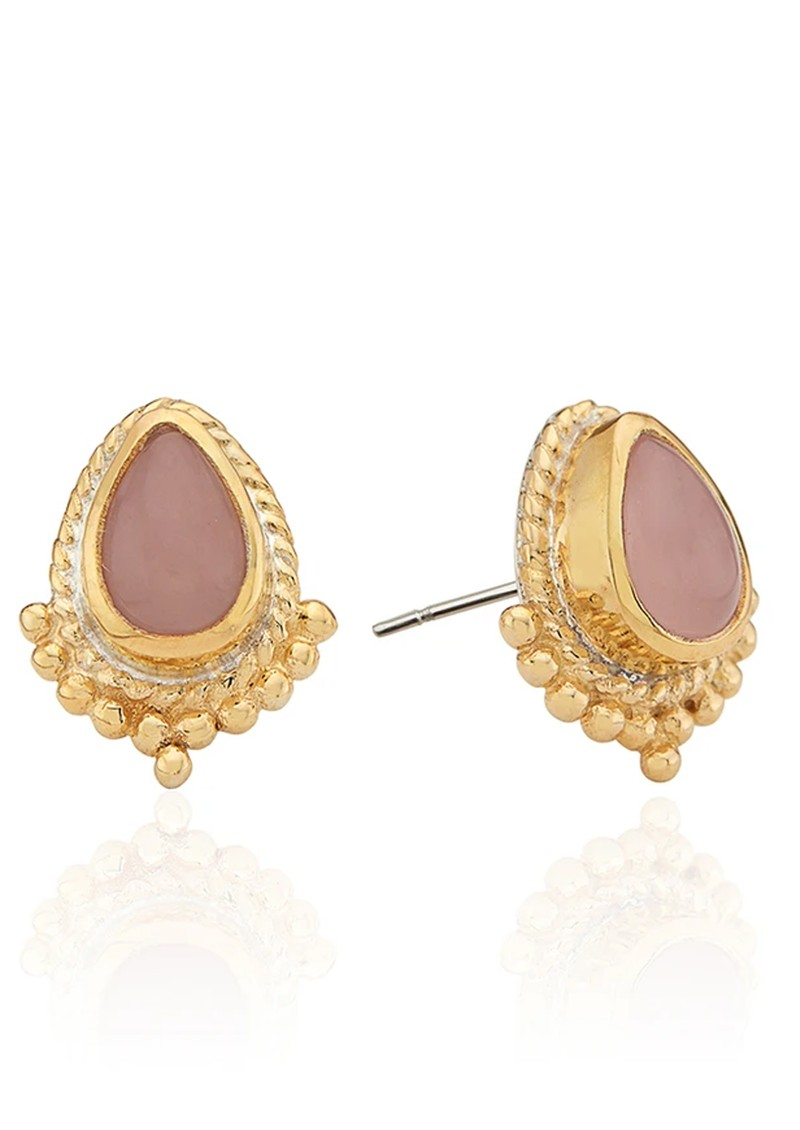 ANNA BECK Mosaic Guava Teardrop Stud Earrings - Gold main image