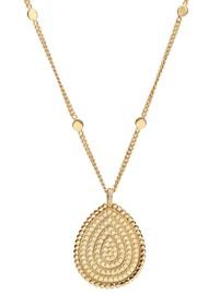 ANNA BECK Mosaic Large Reversible Apatite Pendant - Gold