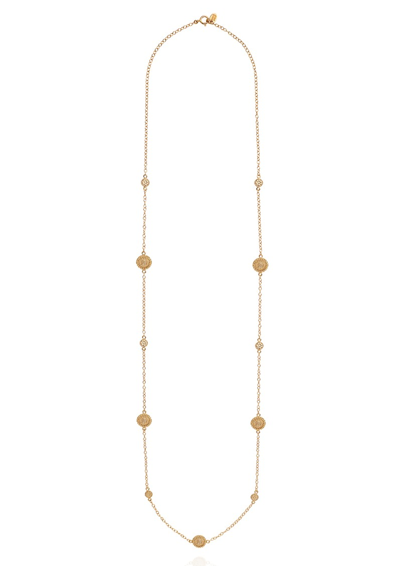 ANNA BECK Mosaic Scalloped Station Necklace - Gold  main image