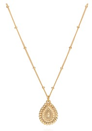 ANNA BECK Mosaic Scalloped Teardrop Necklace - Gold