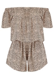 BEACH GOLD Cap Sleeve Playsuit - Mimosa Latte