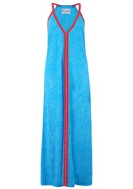 PITUSA Cheetah Sun Dress - Blue