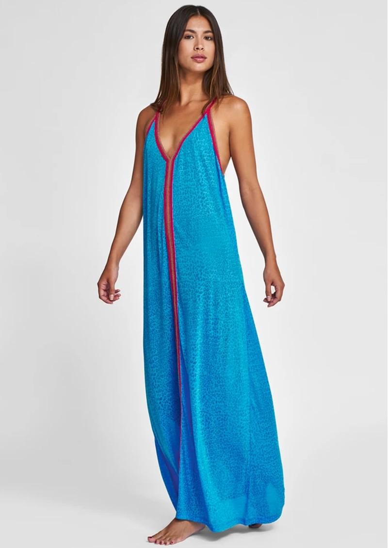 PITUSA Cheetah Sun Dress - Blue main image