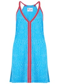 PITUSA Mini Cheetah Sun Dress - Blue