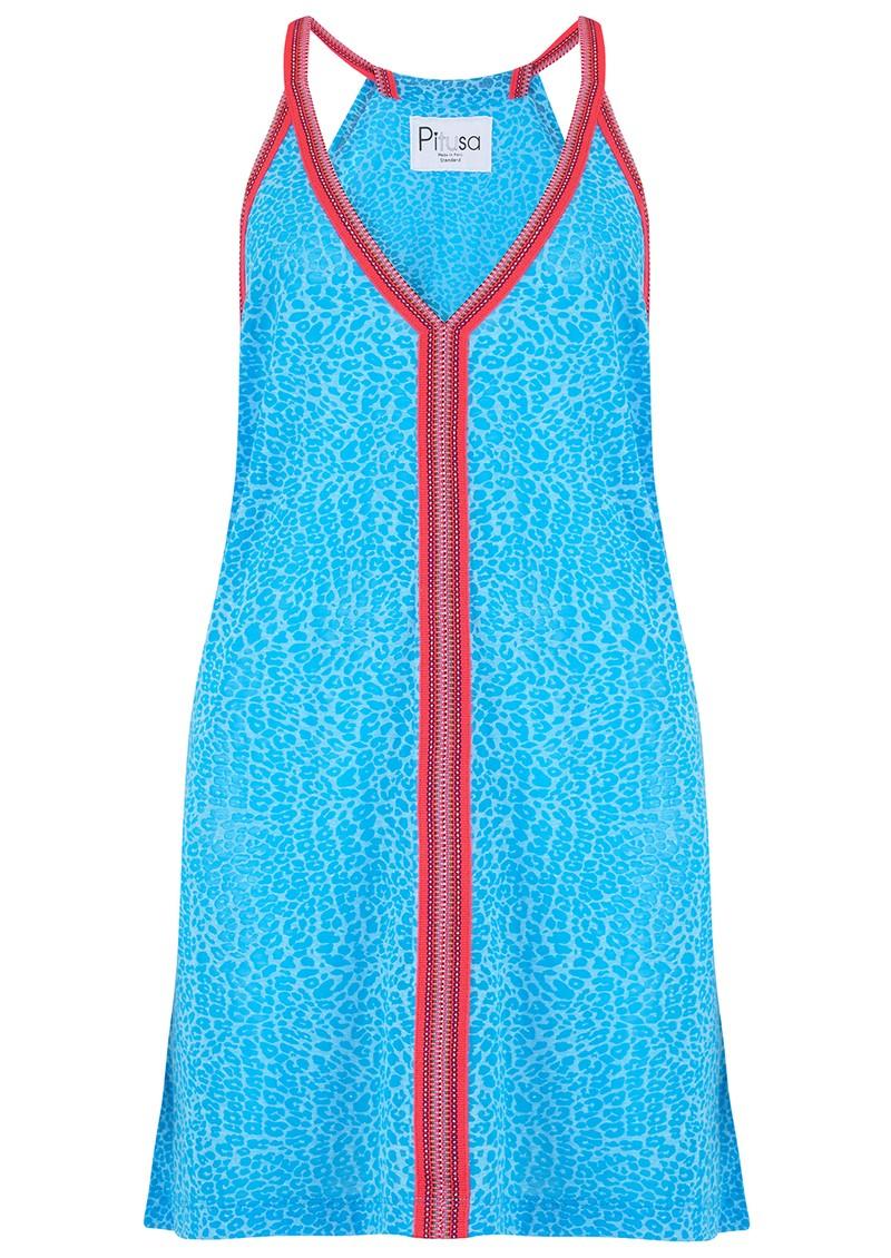 PITUSA Mini Cheetah Sun Dress - Blue main image