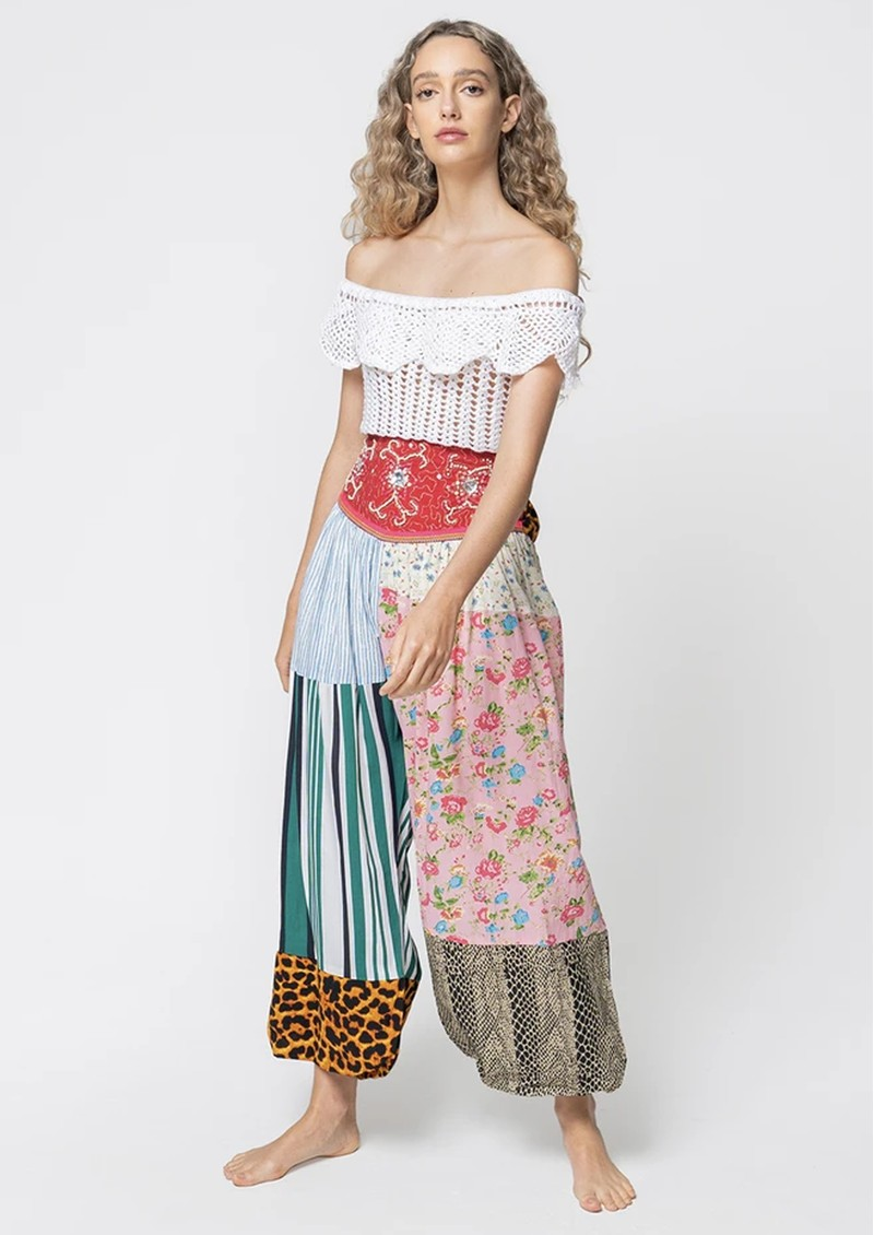 PITUSA Aladdin Multi Print Cotton Trousers - Multi main image