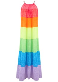 PITUSA Popsicle Cotton Mix Halter Dress - Rainbow