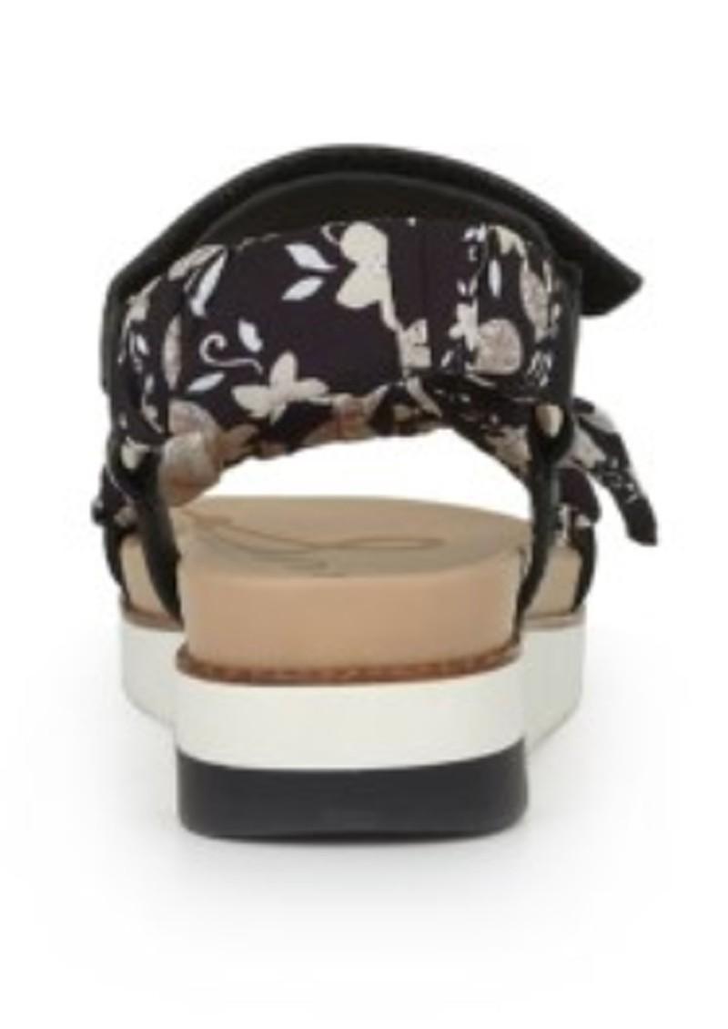 Sam Edelman Ashie Scarf Chunky Sandal - Black & Multi main image