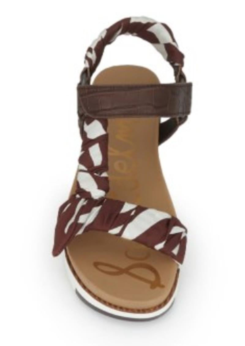 Sam Edelman Ashie Scarf Chunky Sandal - Brown & Multi main image