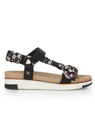 Sam Edelman Ashie Scarf Chunky Sandal - Black & Multi