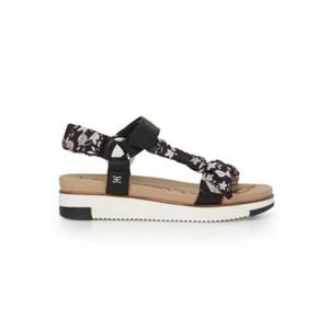 Ashie Scarf Chunky Sandal - Black & Multi