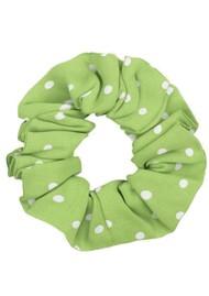 STINE GOYA Printed Scrunchie - Dots Green