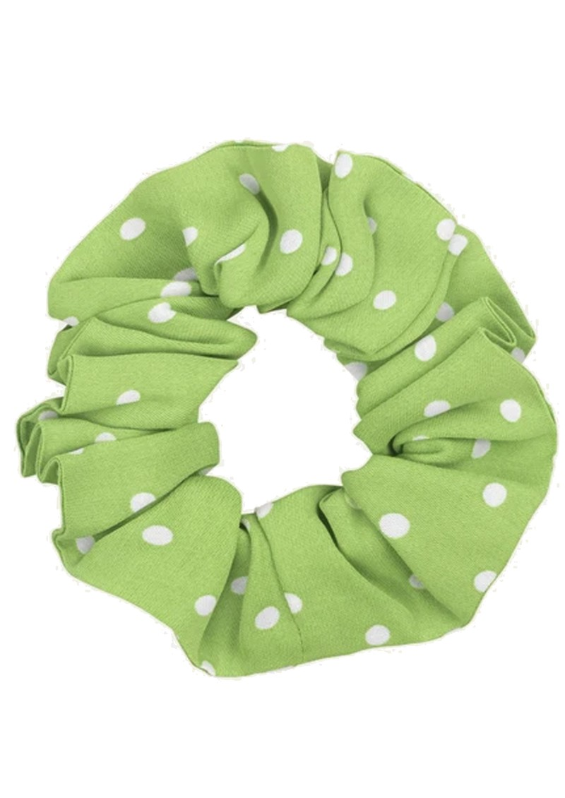 Printed Scrunchie - Dots Green main image