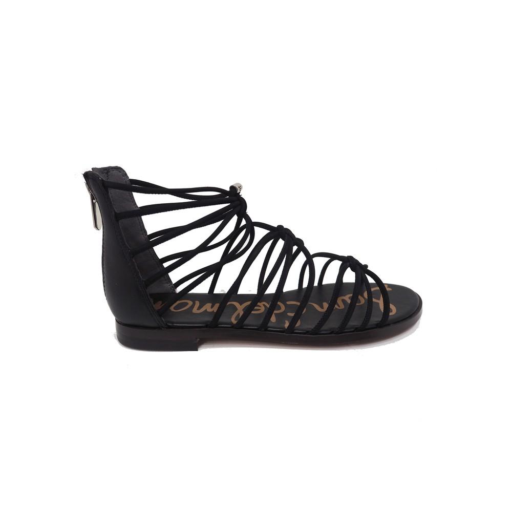Emi Smooth Nubuck Sandals - Black