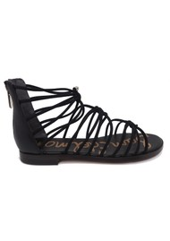 Sam Edelman Emi Smooth Nubuck Sandals - Black