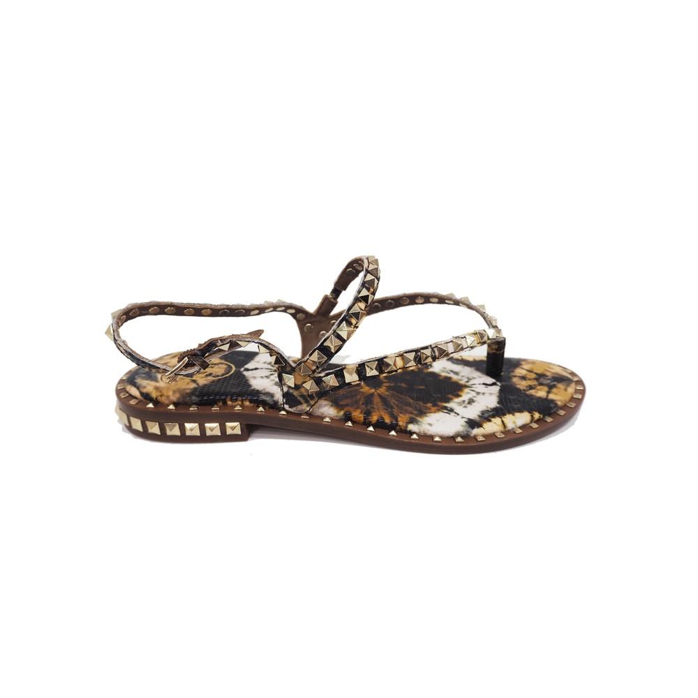 Peps Studded Sandal - Lezard Cuoio