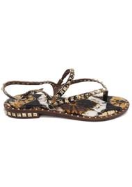 Ash Peps Studded Sandal - Lezard Cuoio