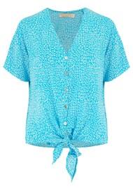 BEACH GOLD Resort Shirt - Tulum Aqua