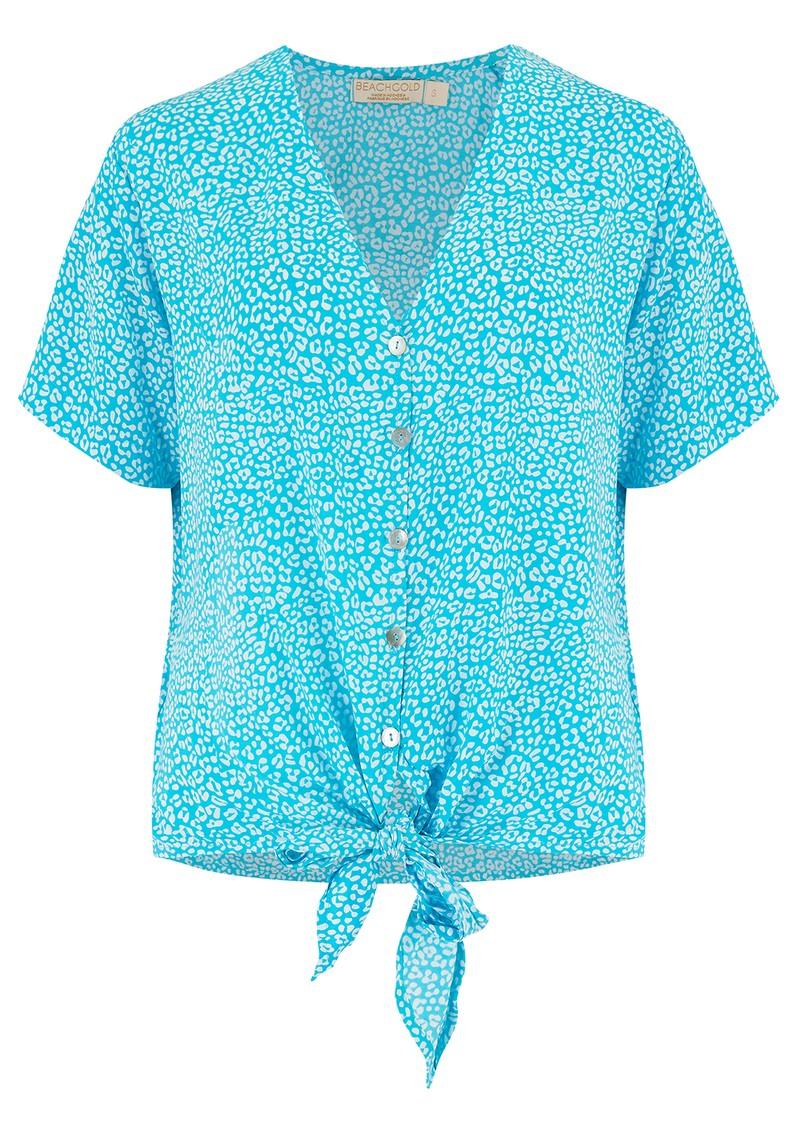BEACH GOLD Resort Shirt - Tulum Aqua main image