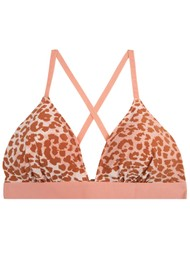 LOVE STORIES Mon Amour Bikini Top - Leopard Pink